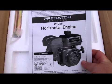 Predator 212cc 6.5hp Engine Unboxing