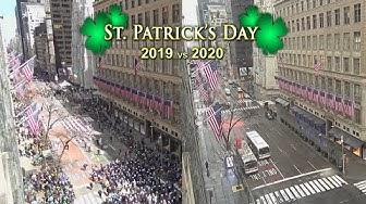 Shocking Saint Patrick's Day Celebrations 2019 vs. 2020 from EarthCam