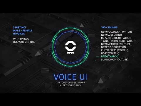 Voice UI Pack - Stream Alert Sound Design