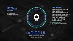 Voice UI Pack - Stream Alert Sound Design
