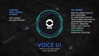 Voice UI Pack Stream Alert Sound Design