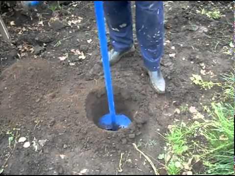 Ямобур садовый ручной диаметром 250мм