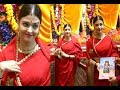 Aishwarya Rai Looks Beautiful In Red Saree At Lalbaugcha Raja 2017