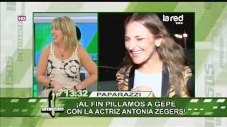 Pillamos a Gepe con la actriz Antonia Zegers