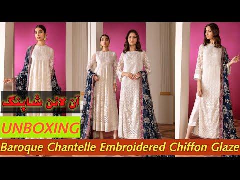 baroque-chantelle-embroidered-chiffon-glaze- beautiful-pakistani-designer-partywear- by-areedas- 