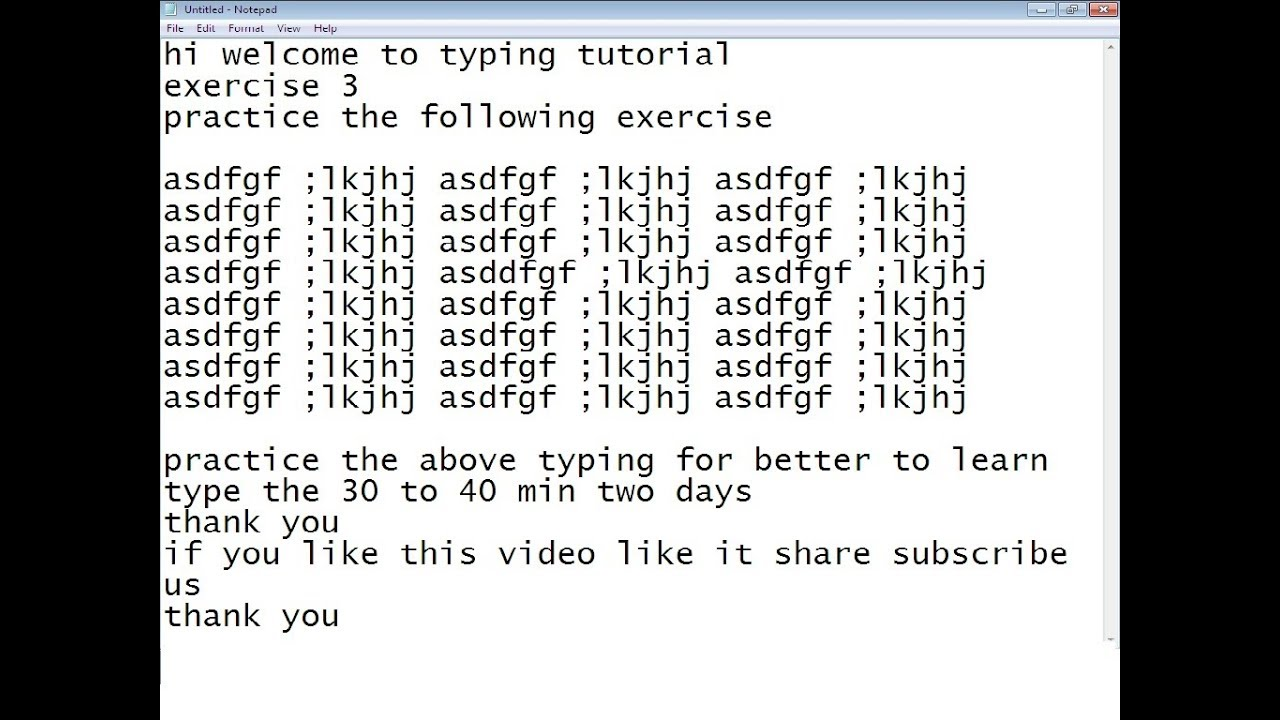 typing exercises