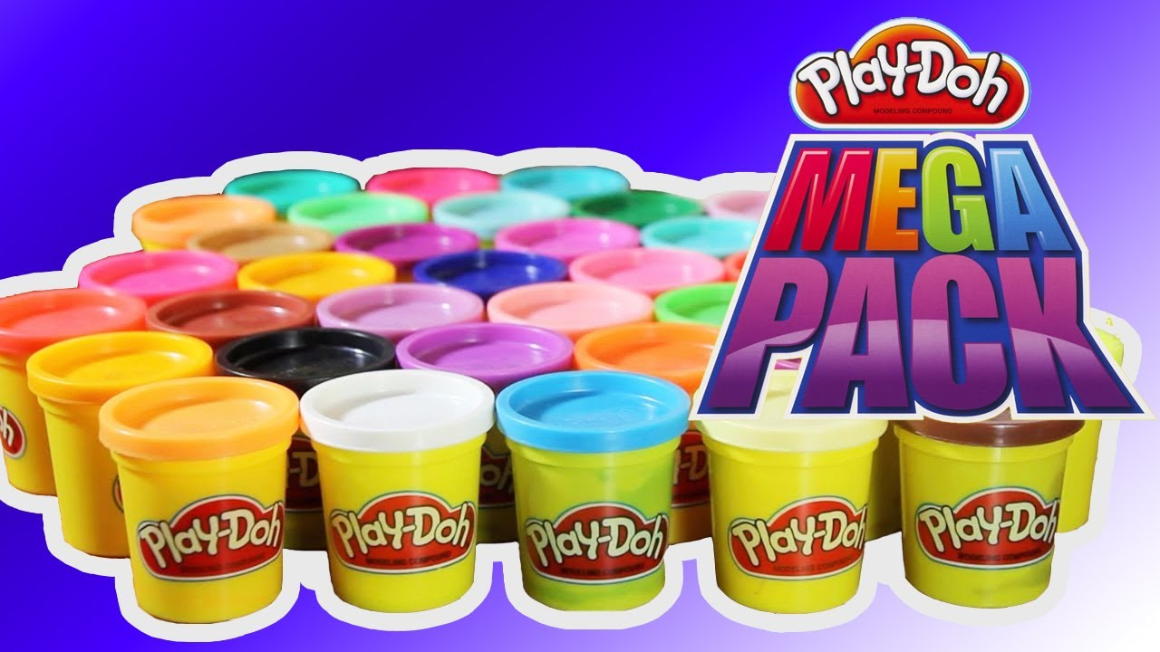play doh pyramid play doh mega pack 36 fun cans colors. Black Bedroom Furniture Sets. Home Design Ideas