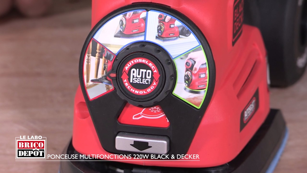Labo Brico Test Ponceuse Multifonctions 220w Black Decker Youtube