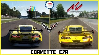 ★ Assetto Corsa vs Project CARS - Corvette C7R at Monza