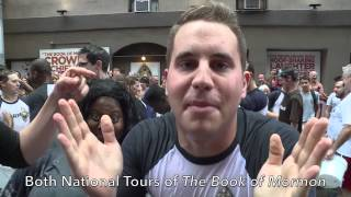 The Book of Mormon Broadway ALS #IceBucketChallenge