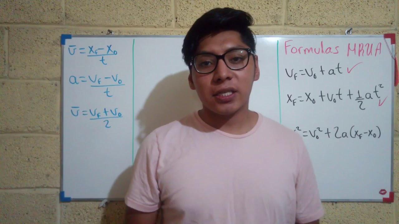 Formulas de MRUA