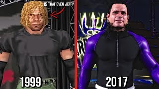 The Evolution Of Jeff Hardy In WWE Games! ( WWF WrestleMania 2000 To WWE 2K18 )