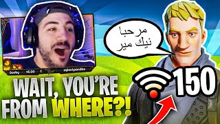 My Fortnite Duo Doesn't Speak English?! Random Fill On Middle East Servers!