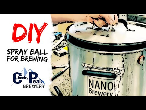 Build a DIY spray ball for cleaning your homebrew brewing gear