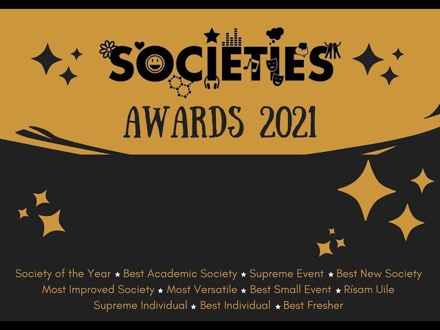 MTU Student Societies Awards Presentation 2021