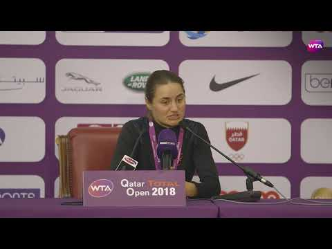 2018 Qatar Open press conference: Monica Niculescu 'when I saw the draw I wasn't too happy'