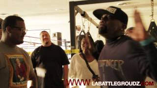 "LABATTLEGROUNDZ ""CATCH DAT FADE"" TRYOUTS JusJosh vs Middle Finger"