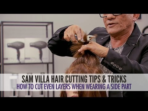 How To Cut Even Layers When You Wear a Deep Side Part or Side Sweeping Fringe