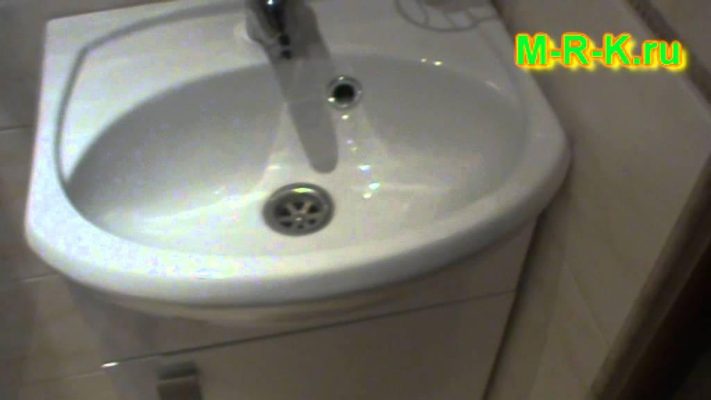 Установка раковины в ванной, на кухне. - YouTube
