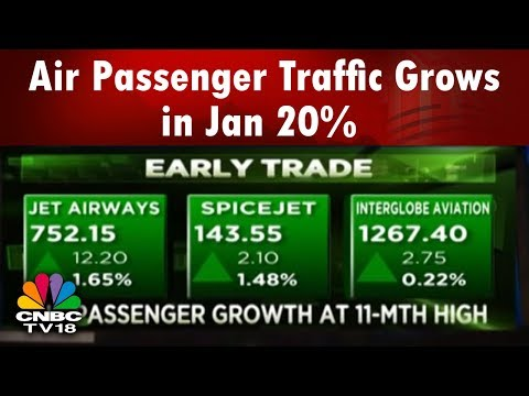 Air Passenger Traffic Grows 20% in Jan | SpiceJet Records Highest Load Factor at 95% | CNBC TV18