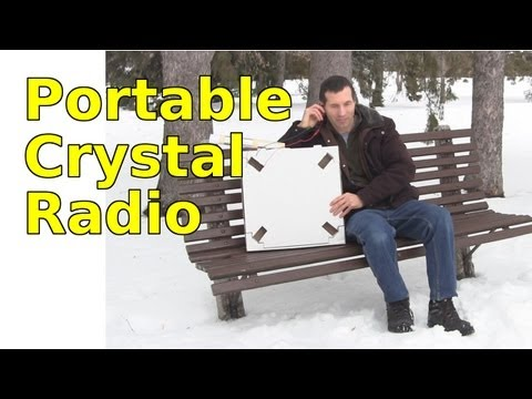 Portable Crystal Radio using Loop Antenna and Pizza Box