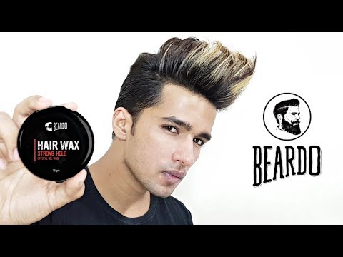 Beardo Hair Wax Strong Hold Review | How to use Beardo Hair wax
