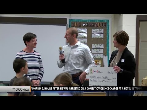 Three Forks Elementary School awarded One Class At A Time check