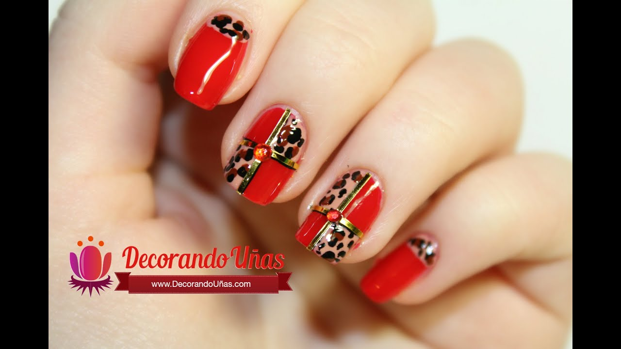 U as decoradas con animal print youtube - Decoracion de unas gel ...