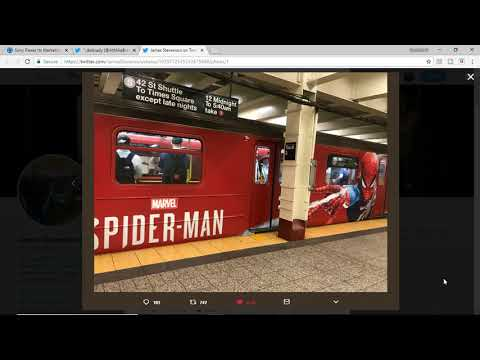 SPIDERMAN PS4 MARKETING HITS BIG IN THE SUBWAYS OF NEW YORK CITY