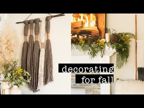 How To Decorate for FALL + DIY Yarn Wall Hanging