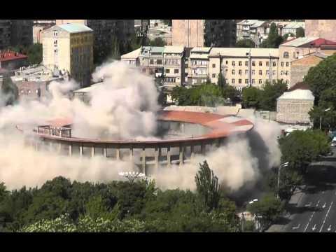 Взорвали купол цирка в Ереване