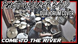 """DUAL DRUM COVER - """"Come to the River"""" by Rhett Walker Band - Feat. Little Drummer Channel"""