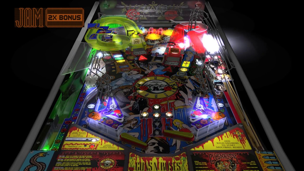 Guns N' Roses Pinball VPX