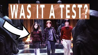 WAS THE PHILOSOPHER'S STONE PROTECTION A TEST?