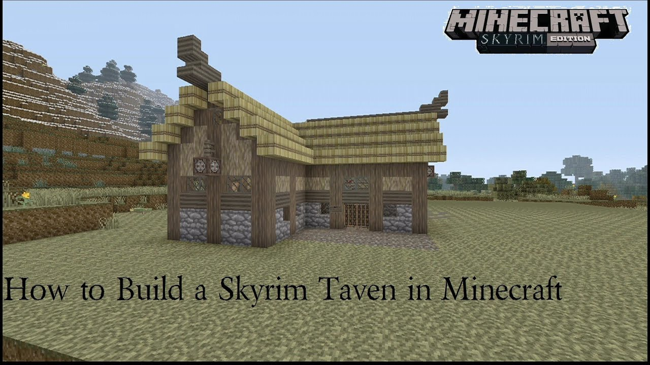 How to build a skyrim tavern in minecraft youtube for Best house designs skyrim