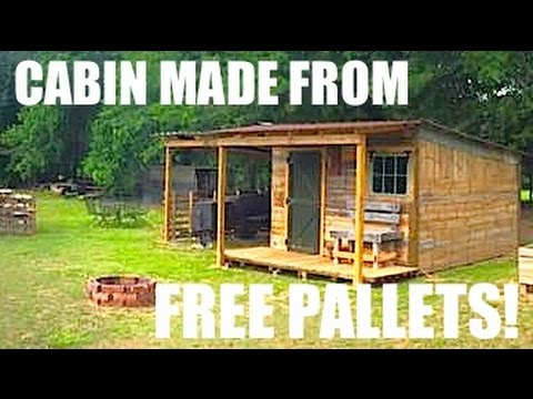 This Tiny House Cabin Was Made From Free Pallets Youtube