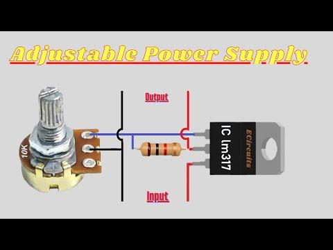 Adjustable dc power supply circuit