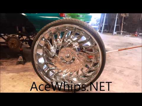 "AceWhips.NET- 34"" Asanti Rims Mounted Up At WTW Customs"