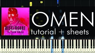 Disclosure feat. Sam Smith - Omen - Piano Tutorial + Sheets