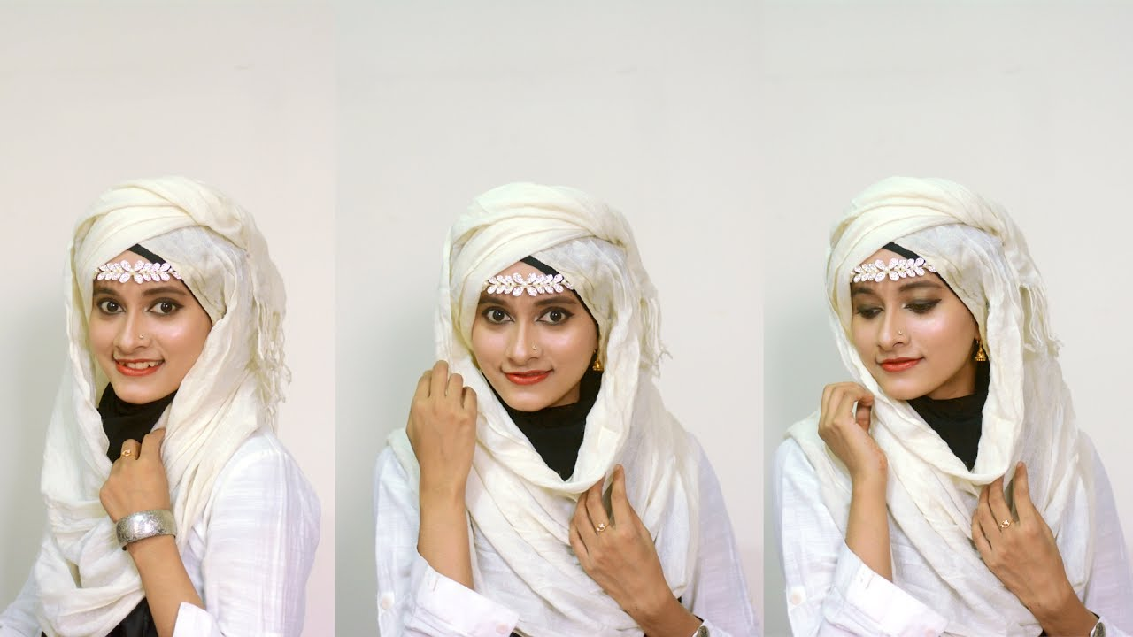 Greek Princess Hijab Style With Ear Ring Lovely Blog By Faria Youtube