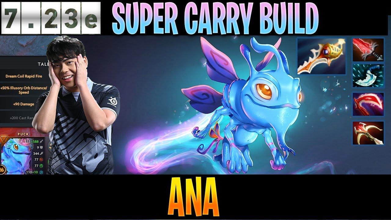 Ana Puck Mid Super Carry Build Dota 2 Pro Players Gameplay Spotnet Dota2 Youtube