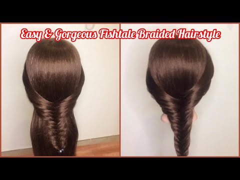 2 Gorgeous And Easy Fishtale Braided Hairstyle/ Beginner Hairstyle