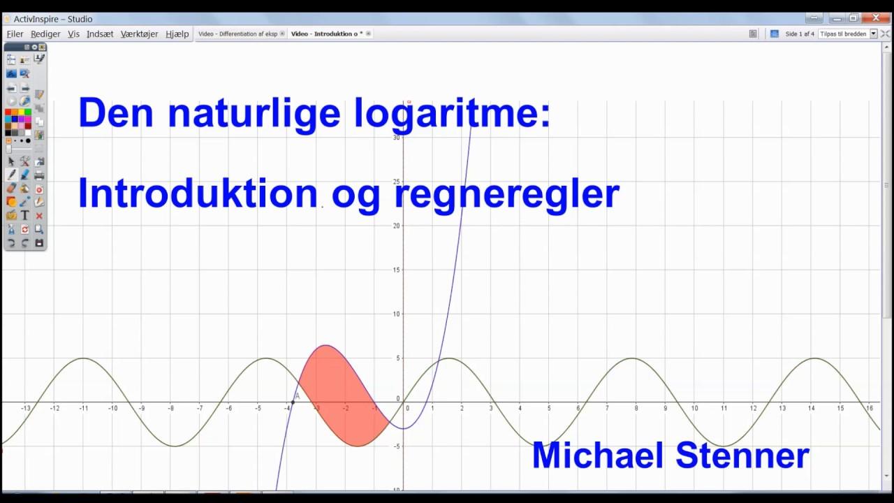 Den naturlige logaritme - Introduktion og regneregler