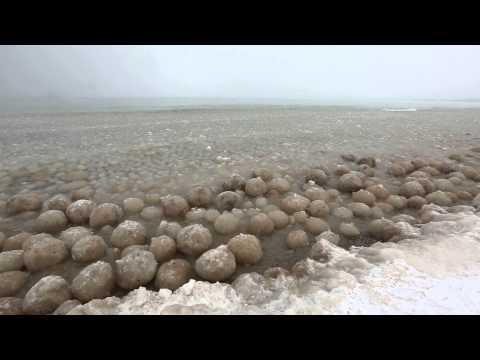 Ice Balls forming along Lake Michigan near Glen Arbor