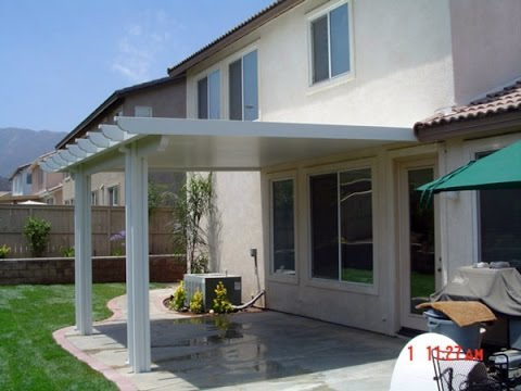 Wood Patio Cover Designs - YouTube on Backyard Overhang Ideas  id=90112