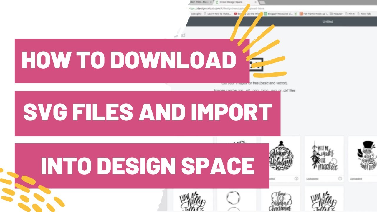 How To Download Svg Files And Import Into Cricut Design Space