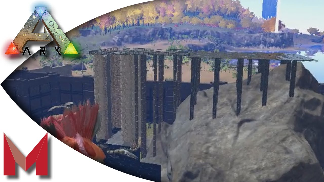 ARK: Survival Evolved - Base Building - new trick for pillars! S2E80  Gameplay