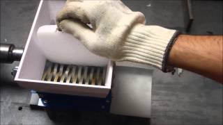Shredding dry ice with mini and XXL mini shredder from FilaMaker
