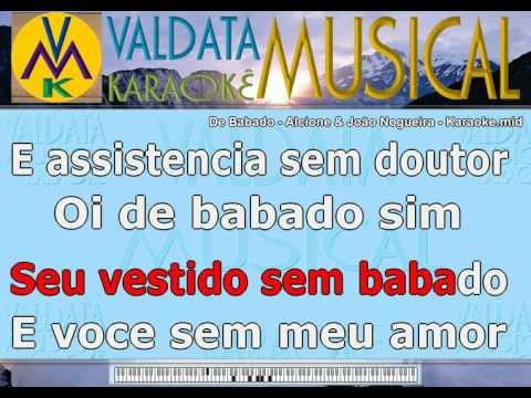 De Babado   Alcione & João Nogueira   Karaoke