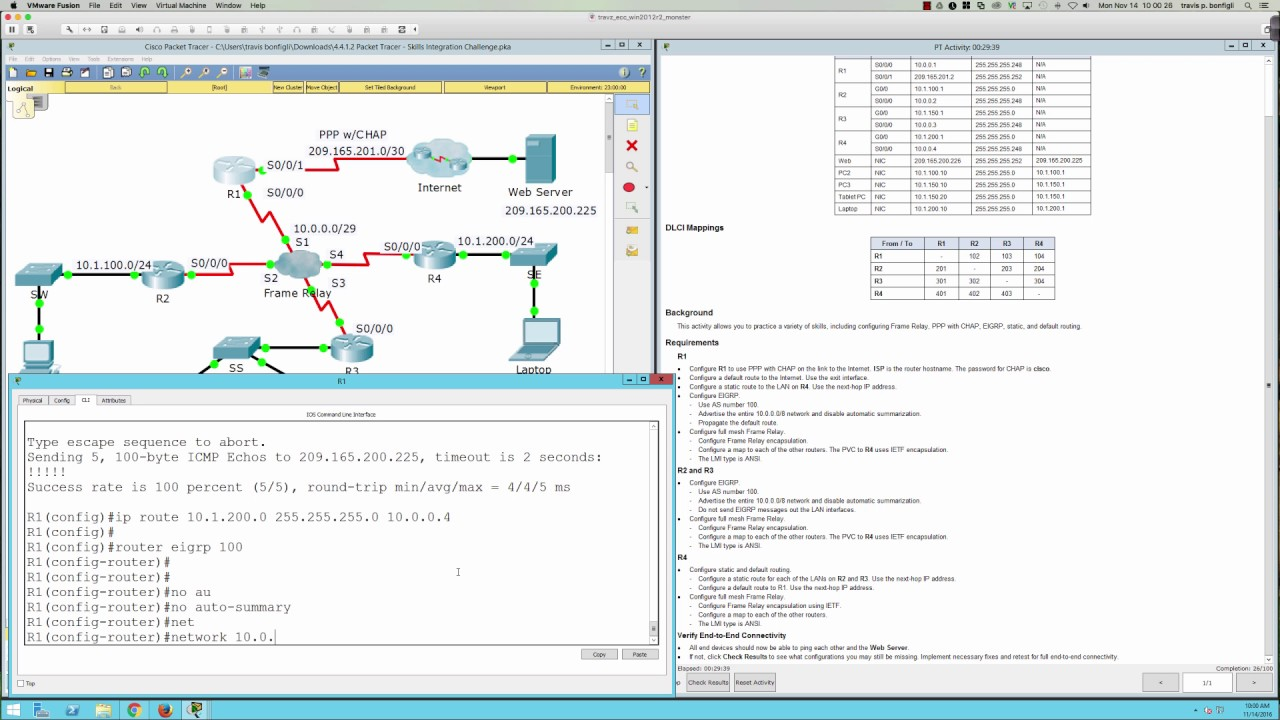 Fall 2016 CTS231875 Packet Tracer 4412 Tutorial Skills